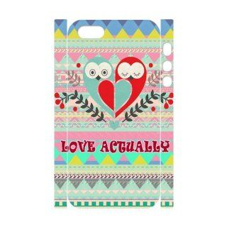 Vcapk Aztec Andes Tribal Pattern with Owl love Actually Quote unique design 3D Custome Hard Plastic Phone Case for Apple iPhone 5,5S Cell Phones & Accessories