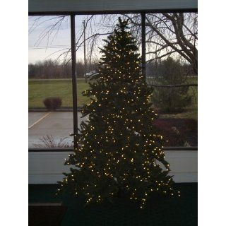7 1/2' Pre Lit Pine Artificial Christmas Tree w/ Clear Light