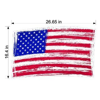 Peel and Stick American Flag Sticker Decal Removable/Repositionable Wall Art   Wall Decor
