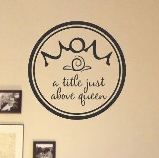 #2 Mom a title just above queen vinyl Wall Decals Quotes Sayings Words Art Decor Lettering vinyl wall art inspirational uplifting  Nursery Wall Decor  Baby