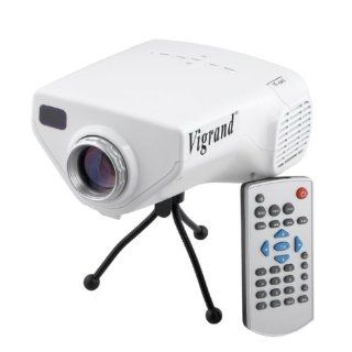 Vigrand 2013 latest Projector 50 Ansil Lumens HDMI Multimedia Portable Mini HD LED LCD Projector Cinema Theater with Music Photos Videos Compatible with for Iphone 4/4s,ipad,samsung Galaxy I9300,n7000,i9100,Support VGA/USB/SD/AV/HDMI/EF Interfacewith Alumi