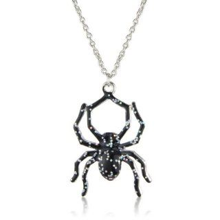 Spider Necklace   matching Earring available also adjustable Black Spider Ring   arrives in lovely gift bag. Kacie Lee Jewelry