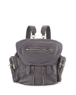 Marti Convertible Mesh Leather Backpack, Exhaust   Alexander Wang