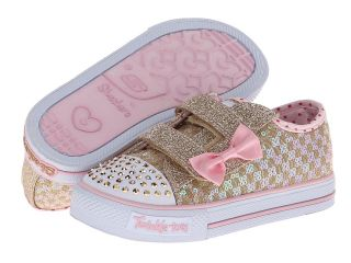SKECHERS KIDS Shuffles   Sweet Step Lights 10284N Girls Shoes (Gold)