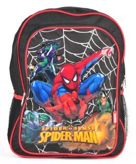 "SUPERHERO AMAZING SPIDER MAN LARGE BACKPACK AND SPIDERMAN 11 PIECES STATIONERY SET, BACKPACK SIZE APPROXIMATELY 16"" Toys & Games"