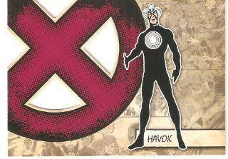 2011 Marvel Beginnings X Men Die Cut #X20 Havok (Insert Card)(Non Sport Comic Trading Cards)(Upper Deck   Series 1) Toys & Games