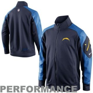 Nike San Diego Chargers Fly Speed Full Zip Performance Jacket   Navy Blue/Light Blue