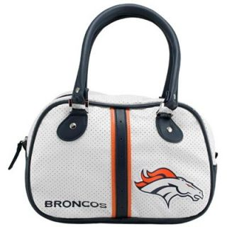 Denver Broncos Ladies White Bowler Purse