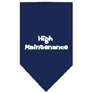 High Maintenance Screen Print Dog Bandana (Small/Navy Blue). Cotton, Clothes, Fabric Pet Supplies / Shops  Hunting Dog Equipment  Sports & Outdoors