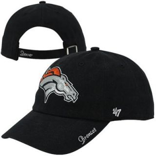 47 Brand Denver Broncos Ladies Sparkle Slouch Adjustable Hat   Navy Blue