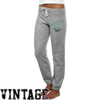 Junk Food Philadelphia Eagles Ladies Sunday French Terry Sweatpants   Heathered Gray