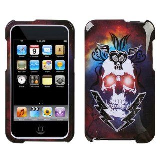 Hard Plastic Snap on Cover Fits Apple iPod Touch 2(2nd Generation) 3(3rd Generation) Lightning Skull (does NOT fit iPod Touch 1st,4th or 5th generations) Cell Phones & Accessories