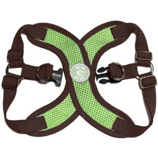 Gooby Choke Free Perfect Fit X Harness for Small Dogs, Medium, Green  Pet Halter Harnesses