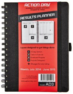 2014 2015 Academic Weekly Planner   6x8 spiral   Layout Designed to Get Things Done   (Student Planner (+) Daily Calendar (+) Day Planner (+) Weekly Diary (+) Monthly Planner (+) Goals Journal (+) Homework Scheduler) [by Action Day]