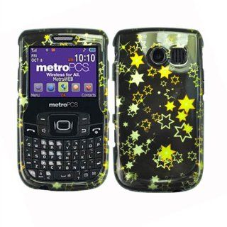 Hard Plastic Snap on Cover Fits Samsung R360 Freeform II 2D Yellow Stars Glossy MetroPCS (does not fit Samsung R350 R351 Freeform) Cell Phones & Accessories