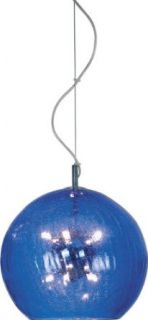 ET2 E20136 17 Eight Light Pendant from the Nova Collection, Blue Crackle   Ceiling Pendant Fixtures
