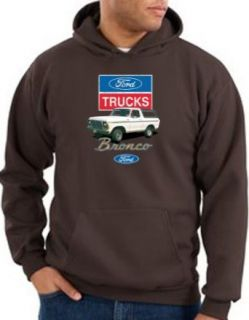 Ford Truck BRONCO 4x4 Classic Adult Hooded Pullover Sweatshirt Hoodie Hoody   Brown Clothing