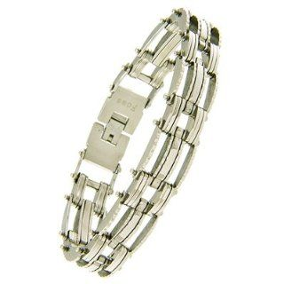 Men's Stainless Steel Bike Chain Industrial Link Bracelet TrendToGo Jewelry