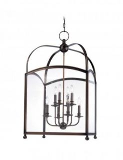 Hudson Valley Lighting 8420 PN Eight Light Up Lighting Two Tier Enclosed Foyer Pendant from the Millbrook Colle, Polished Nickel   Ceiling Pendant Fixtures