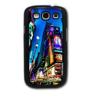 Times Square New York City At Night   Protective Designer BLACK Case   Fits Samsung Galaxy S3 SIII i9300 Cell Phones & Accessories