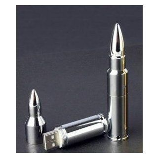 Bullet Silver 64gb USB 2.0 Memory Stick Flash Pen Drive Unique Model Enough Memory Computers & Accessories