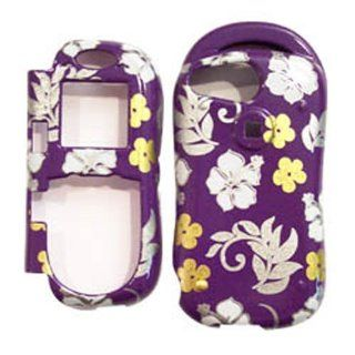 Hard Plastic Snap on Cover Fits Kyocera K612, K612B Strobe Switchback Flowers/Purple(Sparkle) Alltel, MetroPCS, US Cellular, Virgin Mobile, etc Cell Phones & Accessories