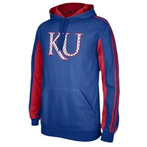 adidas College Statement Pullover Hoodie   Mens   Basketball   Clothing   Kansas Jayhawks   Royal/University Red