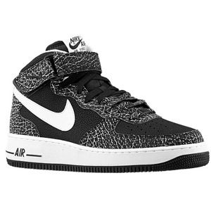 Nike Air Force 1 Mid   Mens   Basketball   Shoes   Black/Metallic Gold/White