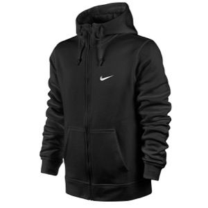 Nike Club Swoosh Full Zip Hoodie   Mens   Casual   Clothing   Black/White