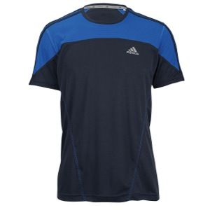adidas Climalite T Shirt   Mens   Running   Clothing   Electricity/Night Shade