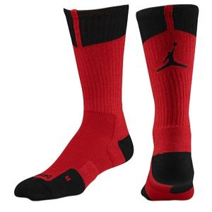 Jordan AJ Dri Fit Crew Socks   Mens   Basketball   Accessories   Gym Red/Black