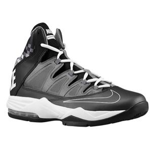 Nike Air Max Stutter Step   Mens   Basketball   Shoes   Black/Dark Grey/Metallic Dark Grey/White