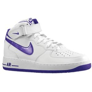 Nike Air Force 1 Mid   Mens   Basketball   Shoes   White/Court Purple
