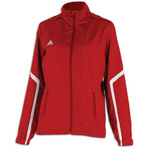 adidas Team Woven Jacket   Womens   For All Sports   Clothing   University Red/White