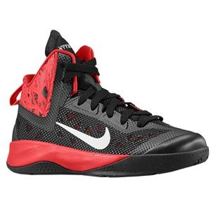 Nike Hyperfuse 2013   Boys Grade School   Basketball   Shoes   Black/University Red/Metallic Silver