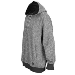Nike Waffle Henley Pullover Hoodie   Mens   Casual   Clothing   Black Heather/Black