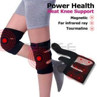 Power Ionics Tourmaline Far Infrared Ray Heat Health Pain Relief Knee Brace Support Strap Health & Personal Care