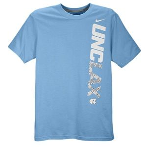 Nike Lax Dri Fit Cotton Practice T Shirt   Mens   Lacrosse   Clothing   North Carolina Tar Heels   Light Blue