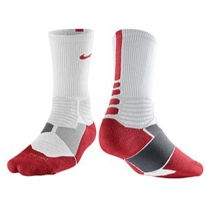 Nike Hyper Elite Basketball Crew Socks   Mens   Basketball   Accessories   White/Varsity Red
