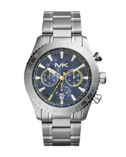 Mens Silver Color Stainless Steel Richardson Chronograph Watch   Michael Kors