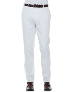 Mens Raleigh Washed Flat Front Pants, White   Peter Millar   White (38)