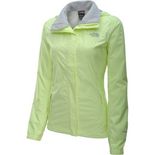 THE NORTH FACE Womens Resolve Rain Jacket   Size L, Rave Green