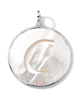 Sterling Silver Lollipop Letter Charm, Mother of Pearl Doublet   Ippolita