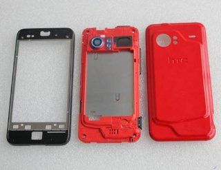 Genuine HTC Droid Incredible Adr6300 Red Full Faceplate Housing Case Cover Cell Phones & Accessories