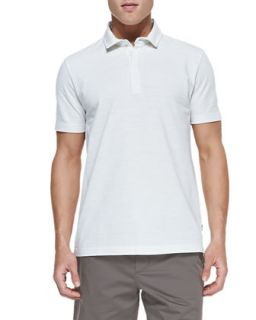Mens Flame Pique Polo Shirt, White   Boss Hugo Boss   White (XL)
