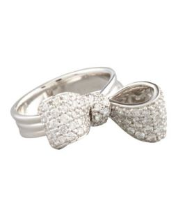 Bow Small 18k White Gold Diamond Ring Size 6   Mimi So   White (6)