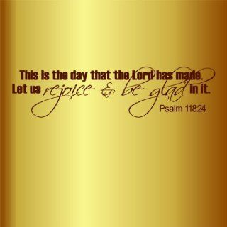 This Is The Day That The Lord Has Made Quotes Picture Art   Bible Quote   Peel & Stick Sticker   Vinyl Wall Decal   Size  12 Inches X 36 Inches   22 Colors Available   Wall Decor Stickers