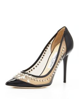 Sparkler Point Toe Studded Pump, Black   Jimmy Choo   Black (38.5B/8.5B)