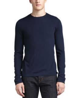 Mens Long Sleeve Crewneck Sweatshirt   Vince   Navy (X LARGE)