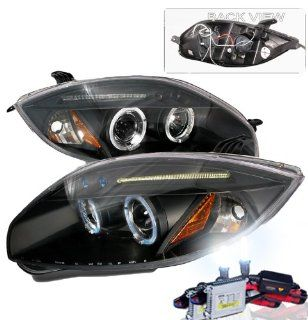 High Performance Xenon HID Mitsubishi Eclipse Projector Headlights with Premium Ballast (Black Housing w/ Clear Lens & 6000K HID Lighting Output) Automotive